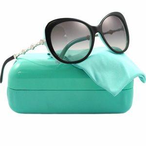Tiffany & Co. TOP BLACK ON AZURE Sunglasses AUTH